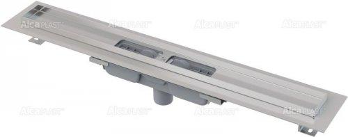 Podlahový žlab APZ1101-650 LOW AlcaPlast, okraj pro perf. rošt, svislý odtok preview