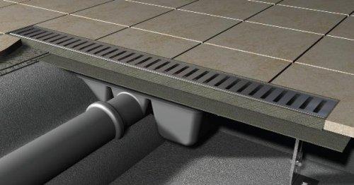 Podlahový žlab nerez 1200 mm APZ1-1150 AlcaPlast, s okrajem preview