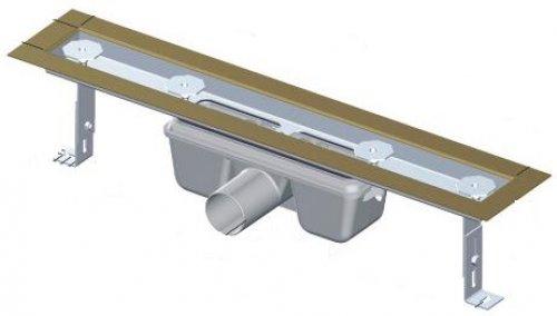 APZ3-FLOOR-750 podlahový nerezový žlab AlcaPlast 800 mm pro vložení dlažby preview