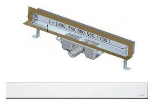 APZ5-EDEN-650 podlahový nerezový žlab AlcaPlast SPA kryt EDEN 700 mm bez okraje, lesk preview