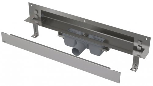 APZ5-SHADE-650 podlahový nerezový žlab AlcaPlast SPA kryt SHADE 700 mm bez okraje, mat preview