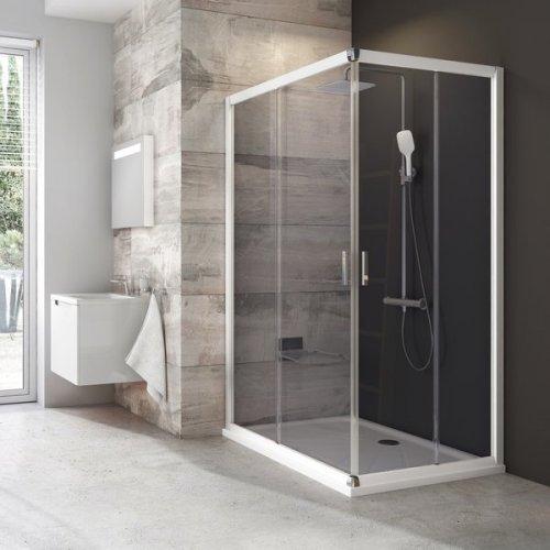Sprchové dveře BLRV2K-110 se vstupem z rohu Transparent Ravak BLIX, bílá preview