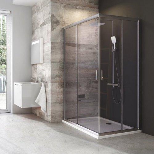 Sprchové dveře BLRV2K-110 se vstupem z rohu Grape Ravak BLIX, satin preview