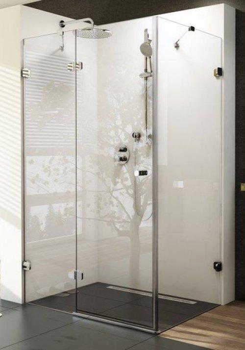 Sprchové dveře dvojdílné s pevnou stěnou BSDPS-100/100 R Ravak BRILLIANT, neobsahuje B-Set, chrom preview