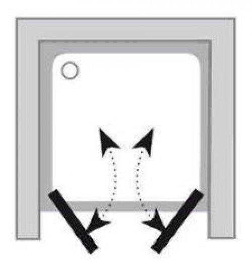 Sprchové dveře dvoudílné CSDL2-100 Transparent Ravak CHROME, satin preview