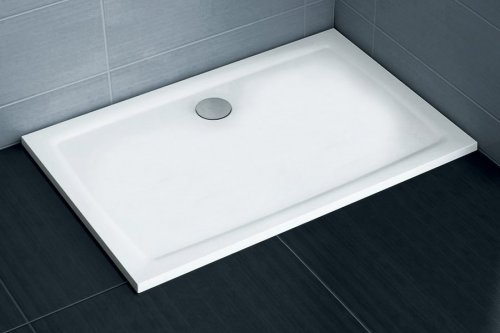Sprchová vanička litá GIGANT PRO 100 x 80 Flat Ravak, bílá preview