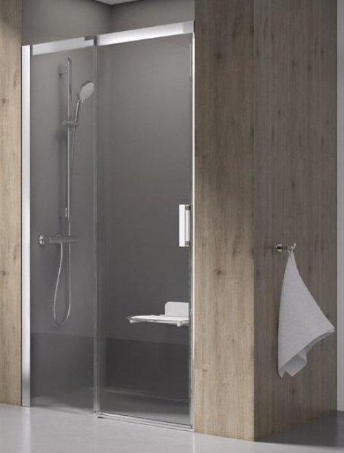 Sprchové dveře dvoudílné MSD2-120 L Transparent Ravak MATRIX, levé, bílá preview