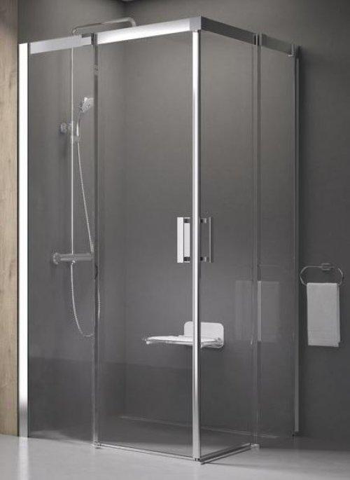 Sprchový kout čtyřdílný MSRV4-80/80 Transparent Ravak MATRIX, chrom preview