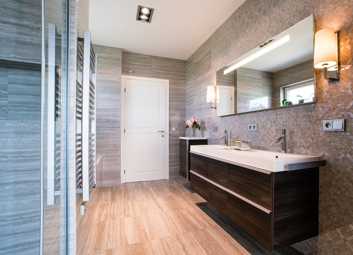 Luxusní koupelny v rodinném domě